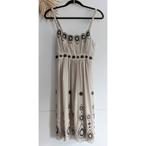 [BCBGMaxAzria] Embroidered Sleeveless Dress
